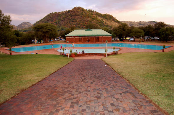 Large swimming pool at Bakgatla Resort.