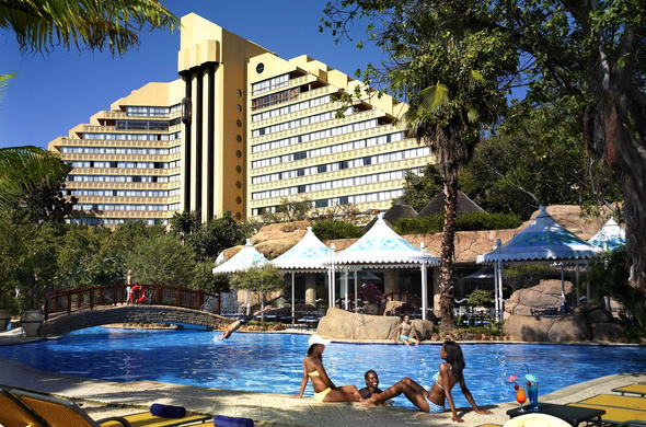 Cascades Hotel and pool at Sun City Resort.
