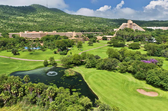View of the Cascades Hotel at Sun City Resort.