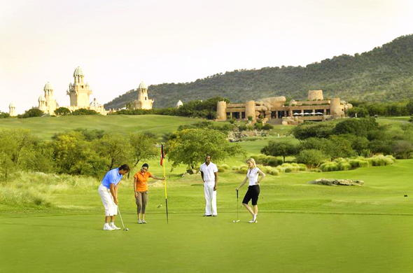 Golf at the Lost City Golf Course in Sun City.