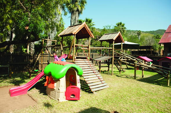 Playground for kids at Kamp Kwena.